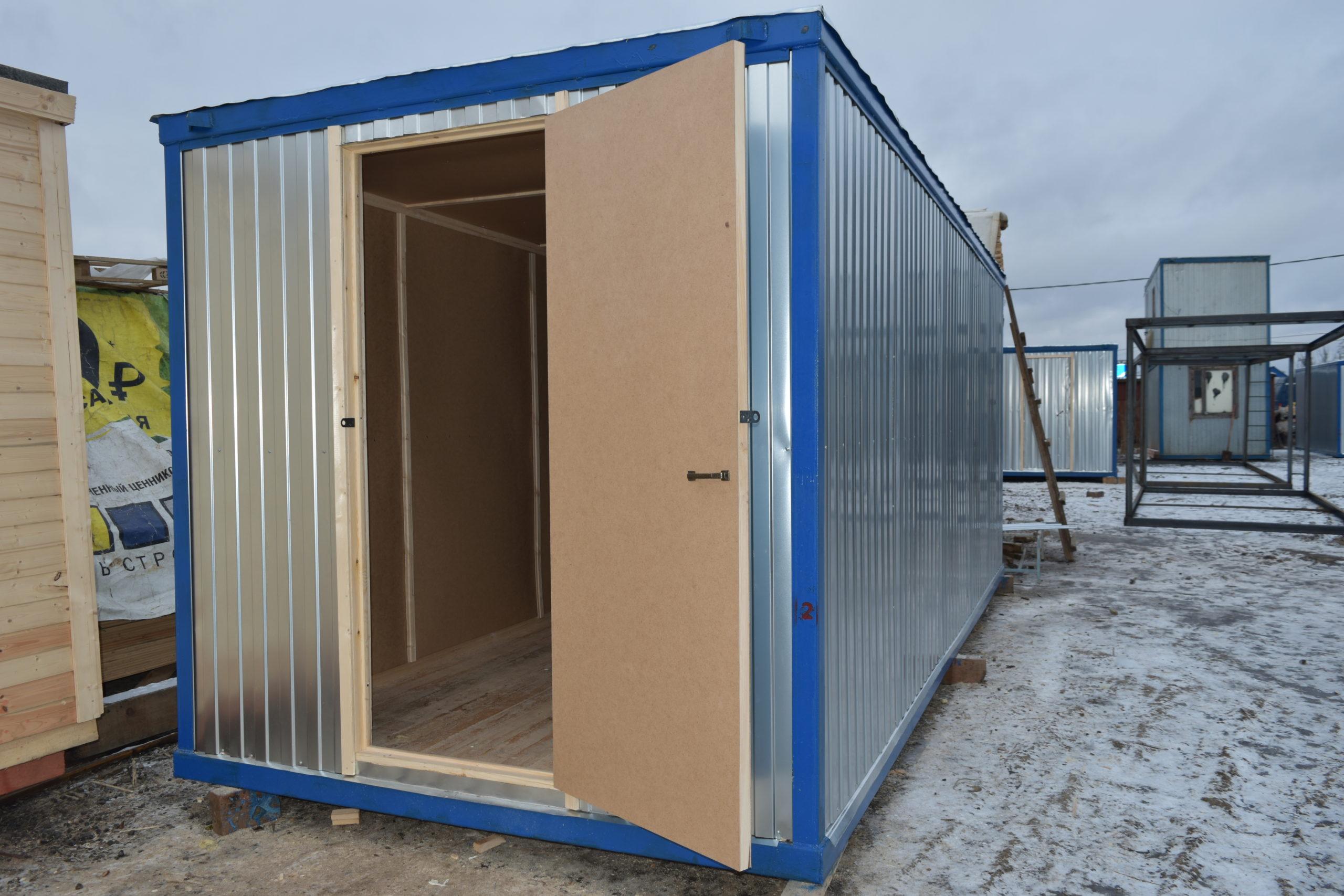 Блок-контейнер бытовка металлическая 5 метров