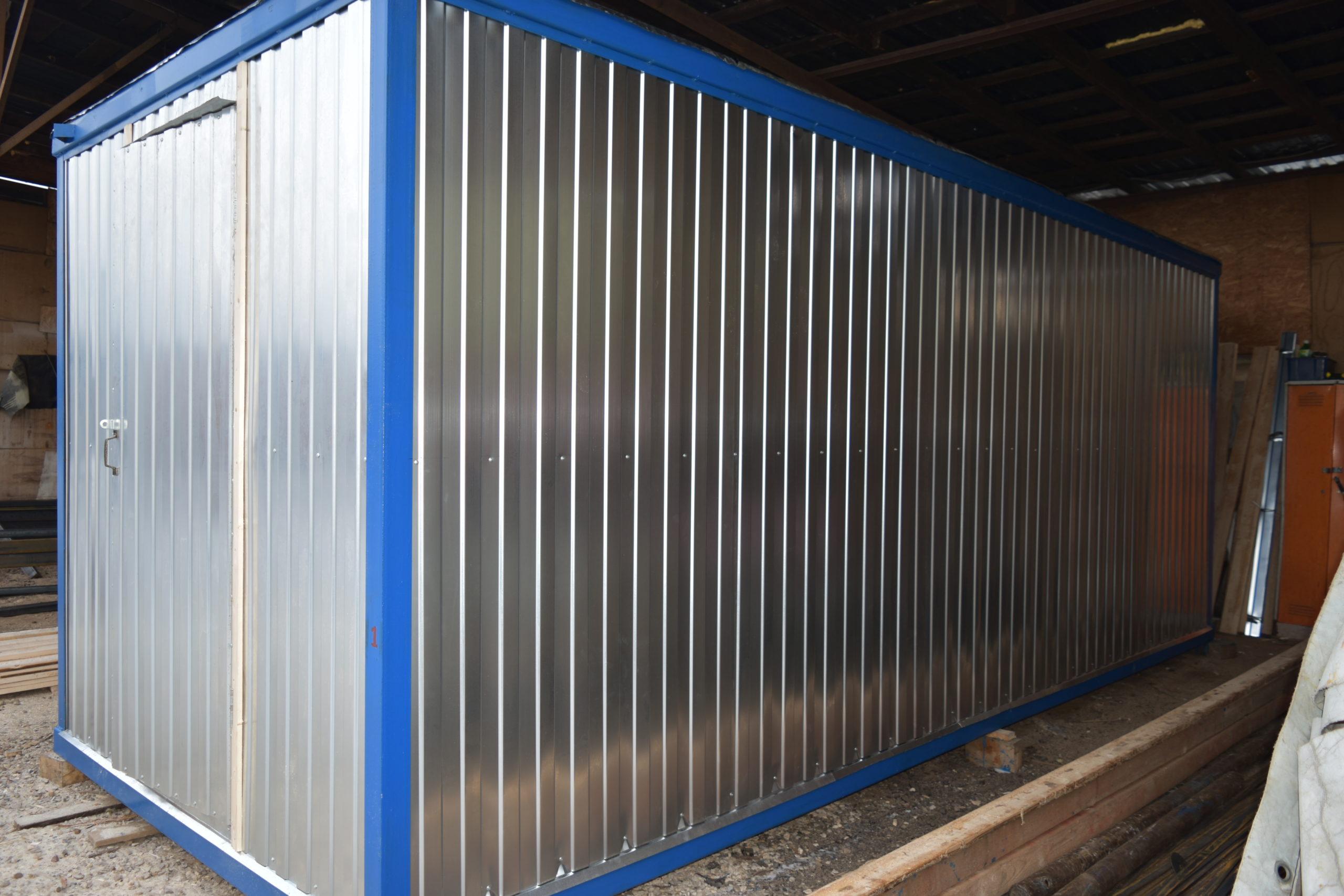 Блок-контейнер бытовка металлическая 6 метров